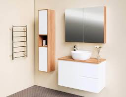 tall boy wall hung bathroom gloss white