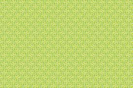 modish leafy pattern bright green