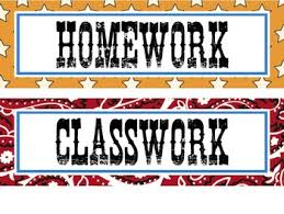 Image result for classwork and homework banner clipart