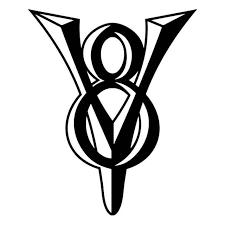 V8 Engine 1 Vinyl Sticker