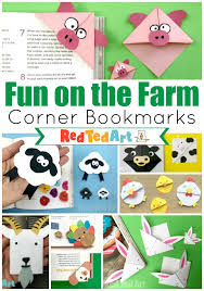 Farm Animal Corner Bookmark Ideas Red Ted Art Make Crafting With Kids Easy Fun