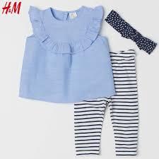 ĐỒ SƠ SINH MỚI VỀ TẠI FIBOBABY SHOP : (H&M) Set 3 chi tiết áo, quần và băng  đô