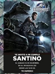20 Invitaciones Jurassic World Jurassic Park Cumpleanos 480 00