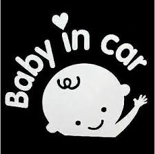 Baby On Board Sticker Decal Baby In Car Sign Made In Usa Ebay