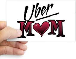 Amazon Com Cafepress Uber Mom Mother S Day Heart Rectangle Sticker Rectangle Bumper Sticker Car Decal Home Kitchen