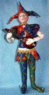 the elaborately decorated costumes of court jesters in the middle ages. |  Cute clown, Art dolls, Court jester