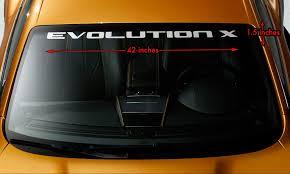 Product Mitsubishi Evolution X Evo 10 Wrc Windshield Banner Vinyl Decal Sticker 42x1 5