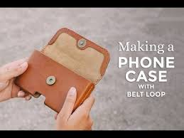 making a leather phone case with belt