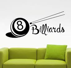 Billiard Wall Decal Billiards Decor Walls Game Stickers Home Etsy