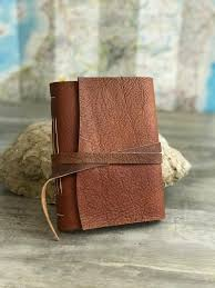 leather travel journal personalized