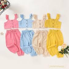 Set áo sát nách + quần dài thời trang cho bé gái