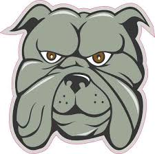 4in X 4in Gray Bulldog Sticker Vinyl Animal Vehicle Window Decal Stickers Stickertalk