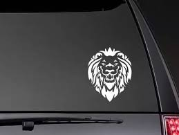 Lion Head Smiling Stickers Car Window Hot Selling Window Decal Art Car Stikcers Zp0412 Car Stickers Aliexpress