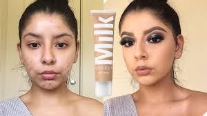 full coverage friday milk makeup blur