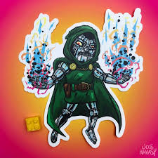 Dr Doom Sticker Etsy