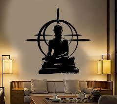 Buddha Head Statue Decorative Wall Sticker Decal V Vozeli Com
