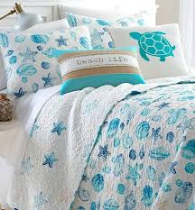coastal sea life cotton quilts for