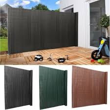 Decorative Plastic Garden Fence Panels Fencing Tall Outdoor Grey Privacy Screen For Sale Ebay