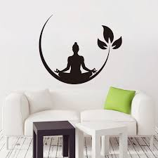 Art New Design Home Decoration Vinyl Moon And Buddha Wall Sticker Removable Colorful House Decor Decals In Rooms Buy At The Price Of 3 86 In Aliexpress Com Imall Com