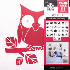 Shop Plaid Folkart Stencil Value Packs Kids Decor 12 X 12 71972e 71972e Plaid Online