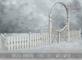 Second Life Marketplace Drd Rustic Garden Fence Set Whitewash