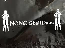 Monty Python Black Knight None Shall Pass Decal Sticker Vinyl Laptop Car 7 5 Monty Python Blackest Knight Vinyl Sticker