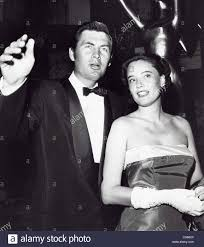 FESS PARKER with wife Marcella Rinehart at Emmy Awards.Supplied by Stock  Photo - Alamy