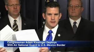 Illinois Rep. Adam Kinzinger deployed to active duty on southern border -  ABC7 Chicago
