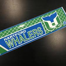 Vintage Hartford Whalers Bumper Sticker Decal Car Laptop Logo Etsy