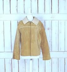 90s vintage gap tan brown suede leather