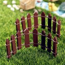 10pcs Mini Wood Fence Fairy Garden Mini Landscape Boutique Decorative Small Fence Bonsai Plant Decoration Supplies Articles Article Decoration Aliexpress