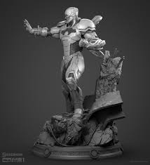 ArtStation - Cyborg (New 52) - Prime 1 Statue, Adam Fisher | Statue, Dark  fantasy art, Sculpture