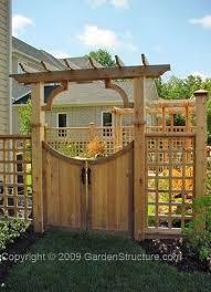 Structures For The Garden Garden Arbors Garden Trellises And Woodwork Fence Gate Design Fence Design Garden Gates