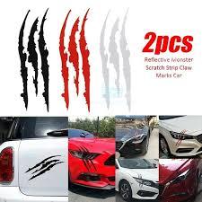 2pc Car Headlight Scratch Stripe Decal Sticker Claw Stripe Slash Truck Vinyl Car Stickers Car Decoration Geek