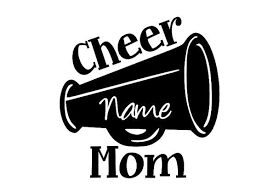 Cheer Mom Vinyl Car Decal Sticker With Custom Name 6 X 5 On Etsy 4 95 Car Decals Vinyl Cheer Mom Car Decals Stickers