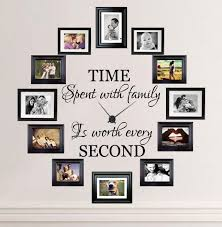 Time Spent With Family Is Worth Every Second Wall Decal Family Wall Decor Family Pictures On Wall Family Photo Wall