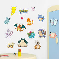 Best Deal 9f39 Pokemon Go Wall Stickers Kids Rooms Home Decorations Pikachu Wall Decal Poster Wall Art Wallpaper Window Sticker Home Decor Cicig Co