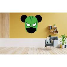 Design With Vinyl Mickey Mouse Hulk Vinyl Wall Decal Wayfair