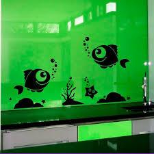 Shop Fish Starfish Seaweed Vinyl Decal Art Mural Sticker Interior Nursery Room Dorm Decor Sticker Decal 22 X 30 Black Overstock 15427956