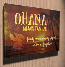 Wall Art Ohana Means Family Lilo And Stitch Quote Canvas Art Lilo And Stitch Quotes Lilo And Stitch Canvas Quotes
