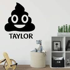 Poop Emoji Wall Decal Vinyl Decor Wall Decal Customvinyldecor Com