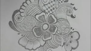 mehndi design drawing