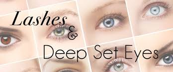 lashes makeup for deep set eyes