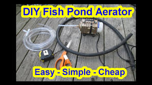 simple diy koi fish pond aerator
