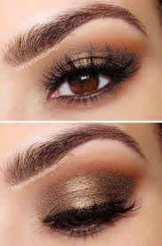 cute eye makeup for dark brown eyes