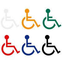 Handicap 6 X 6 Decal For Wheelchair Lift Disability Mobility Van Non Reflective Ebay