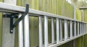 Ladder Brackets That Fit H Section 100mm Concrete Fence Posts 1 Pair Ebay