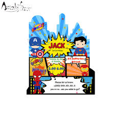 Suministros Para Invitaciones Tematicas De Superheroe Suministros