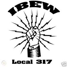 Large Ibew Union Decal 80009690