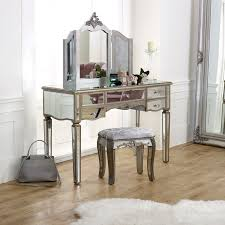 large mirrored dressing table set